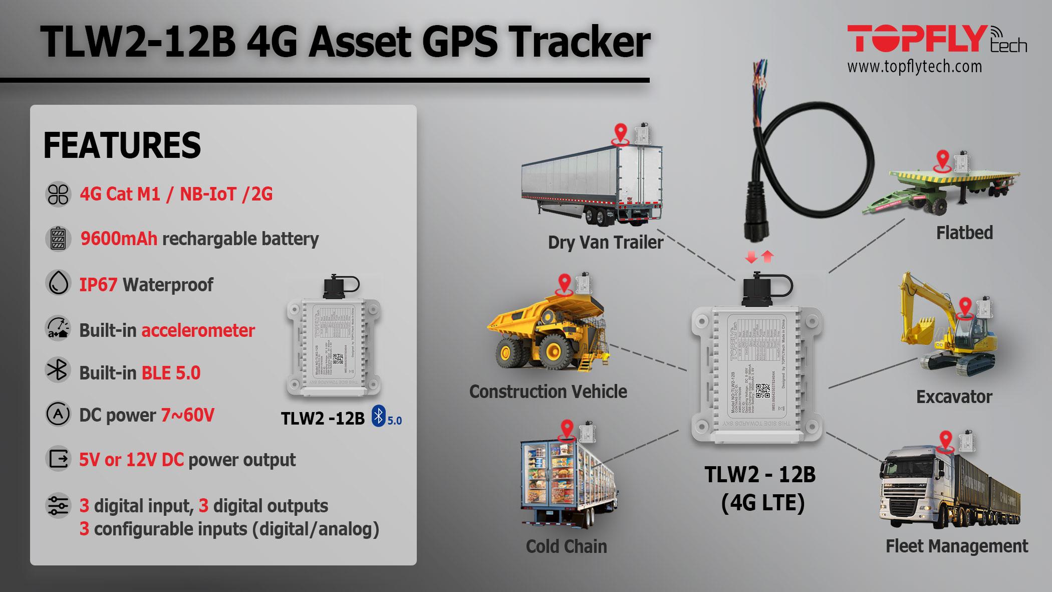 产品展示 TLW2-12B 4G资产跟踪器