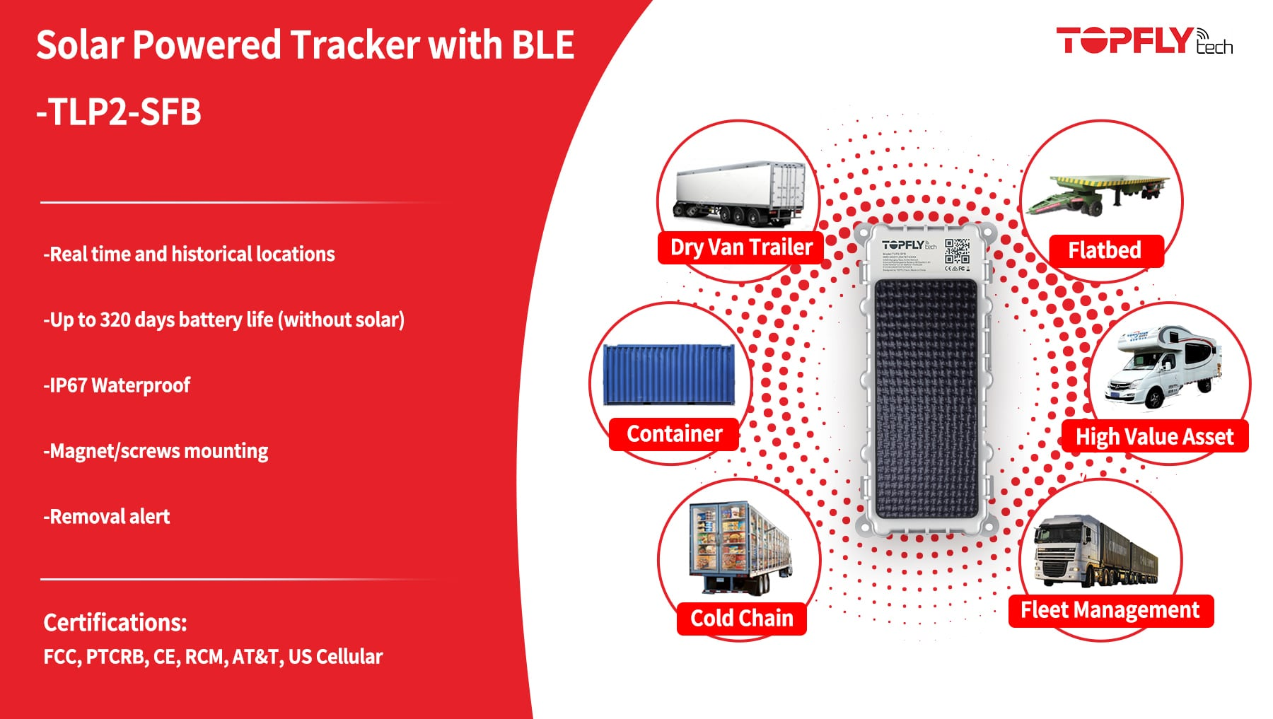 TLP2-SFB | Large Solar Tracker with BLE 5.0