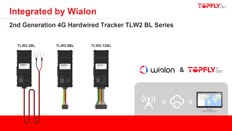 Integrated by Wialon | 2nd Generation 4G Hardwired Tracker TLW2 BL Series